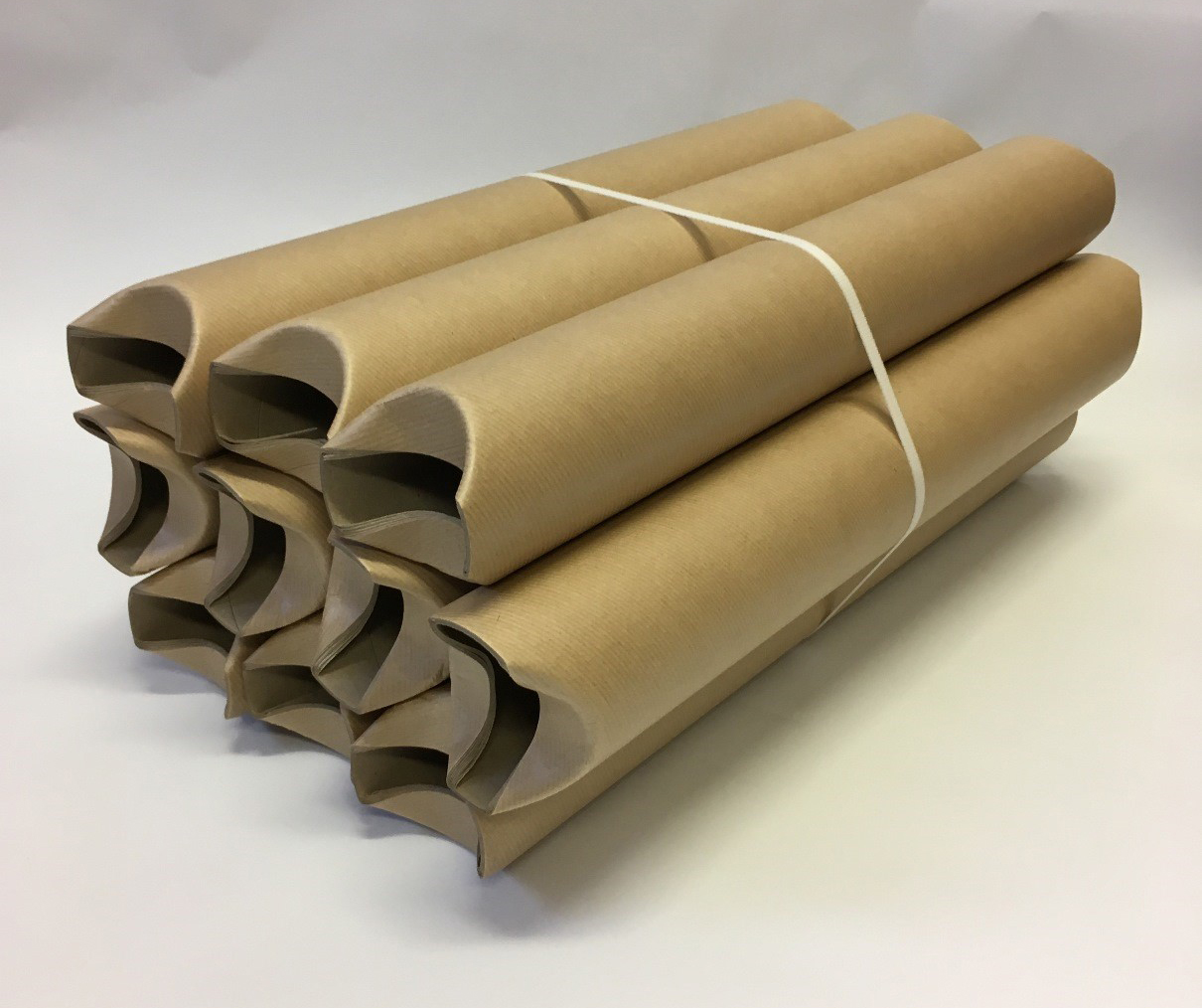 tucked ends cardboard tubes
