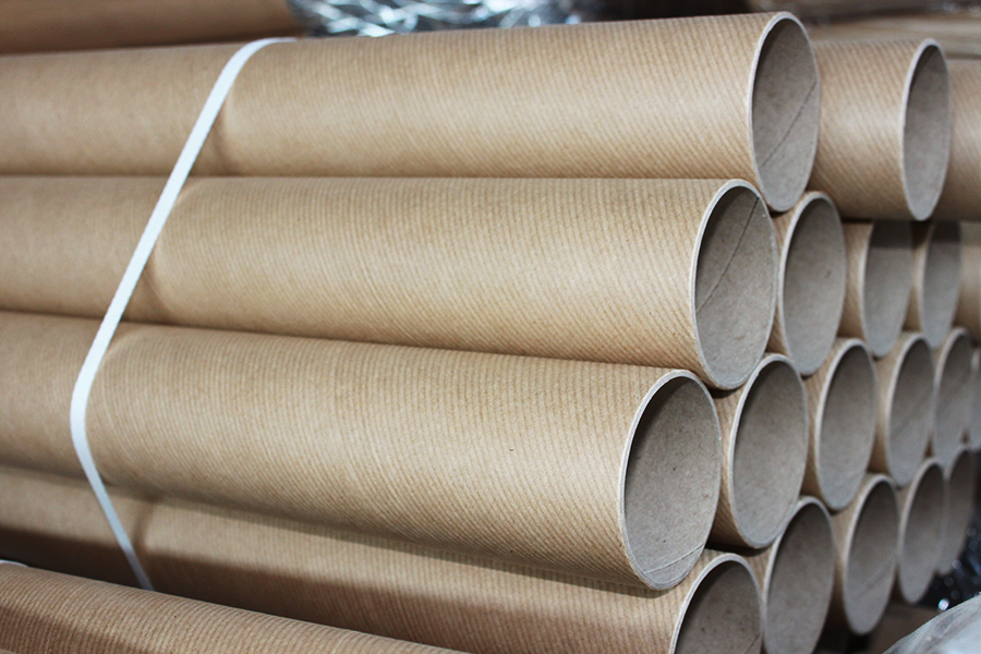 how are cardboard tubes made