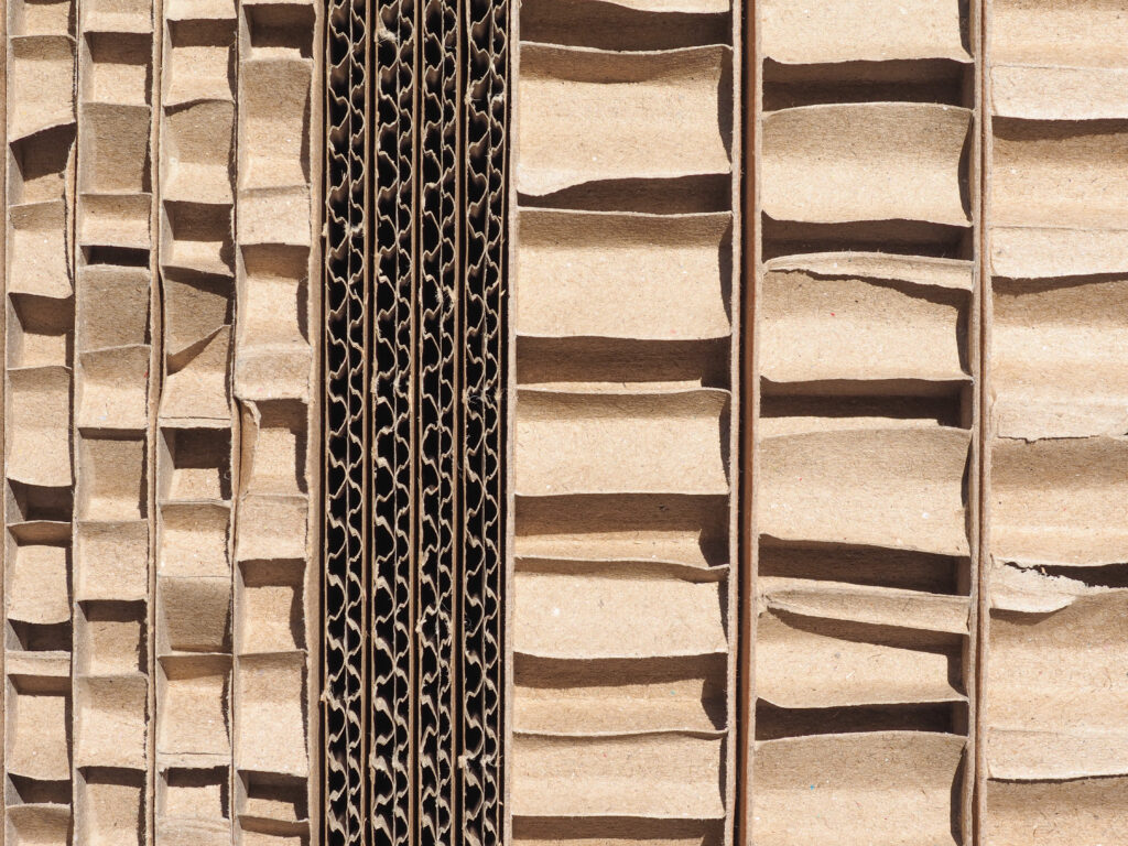 cardboard stacked tightly