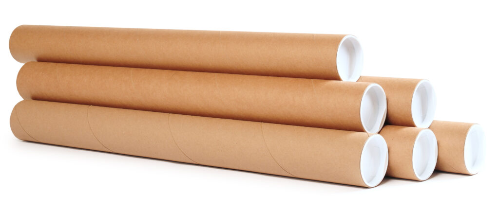 stack of cardboard tubes